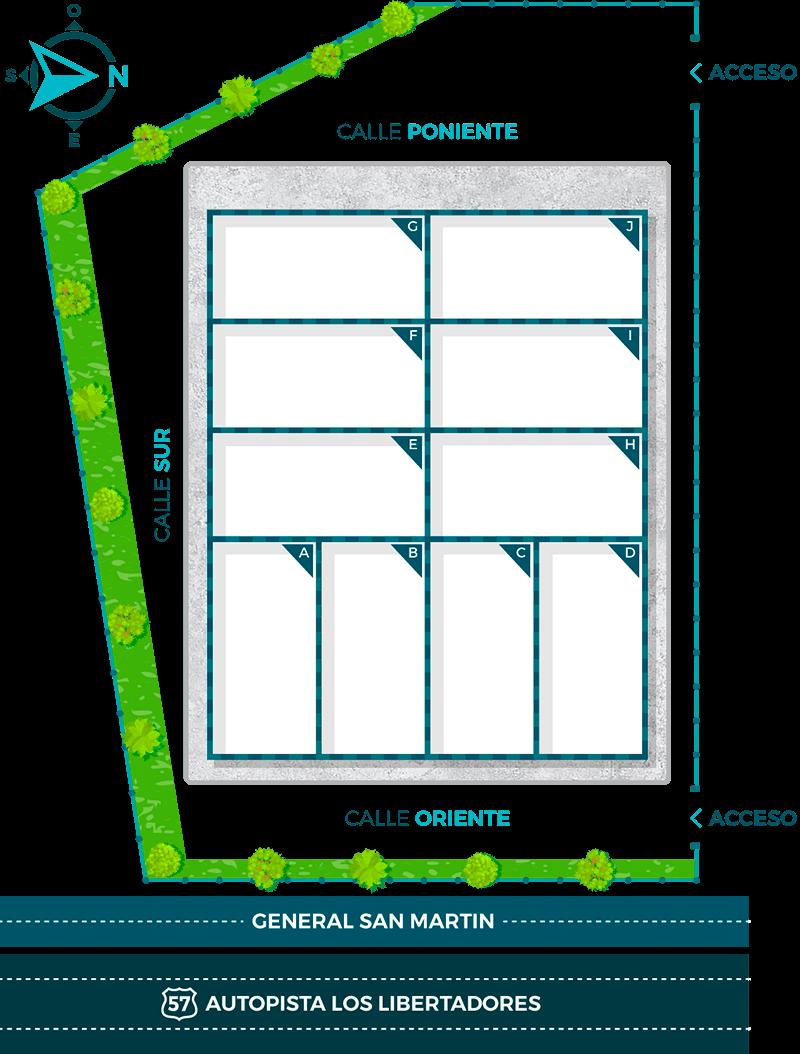 Mapa Ubicación Nueva Etapa:Casa Nor-Oriente: Centro Comercial y Empresarial